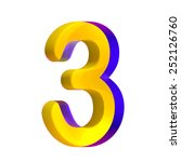 colorful number three  3   Shutterstock . vector #252126760