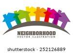neighborhood design  vector... | Shutterstock .eps vector #252126889