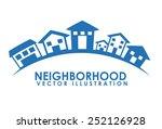neighborhood design  vector... | Shutterstock .eps vector #252126928