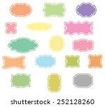 vintage frames set  | Shutterstock . vector #252128260