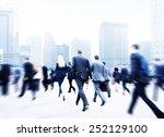 business people walking... | Shutterstock . vector #252129100