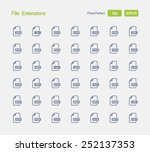 file extensions icons. granite... | Shutterstock .eps vector #252137353