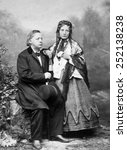 Small photo of Henry Ward Beecher (1813-1887), Harriet Beecher Stowe (1811-1896), photograph ca. 1885