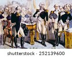 General George Washington taking leave of the officers of his army, December 4, 1783, lithograph by Nathaniel Currier published 1848
