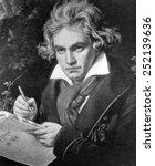 Ludwig Van Beethoven, portrait by J. Stieler, 1819