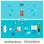 set of flat design vector...   Shutterstock .eps vector #252143014