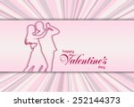 happy valentines day card | Shutterstock . vector #252144373