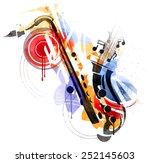 art of sax | Shutterstock .eps vector #252145603