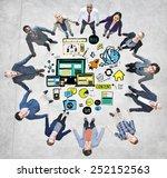 business people responsive... | Shutterstock . vector #252152563