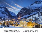 Evening Landscape And Ski...