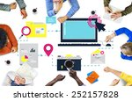 technology media social network ... | Shutterstock . vector #252157828