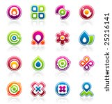 set of colorful abstract design ...   Shutterstock .eps vector #25216141