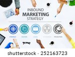 inbound marketing strategy... | Shutterstock . vector #252163723