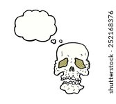 cartoon skull with thought... | Shutterstock . vector #252168376