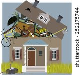 a horder house  bursting from... | Shutterstock .eps vector #252175744