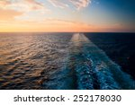 sunset over the sea seen from a ...