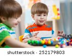happy children brothers play... | Shutterstock . vector #252179803