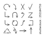 arrows sketch theme | Shutterstock .eps vector #252184753
