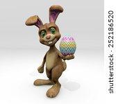 easter bunny giving egg | Shutterstock . vector #252186520