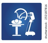 robot assisted surgery  medical ... | Shutterstock .eps vector #252187816