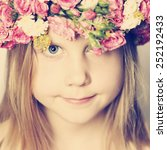 spring concept young face... | Shutterstock . vector #252192433
