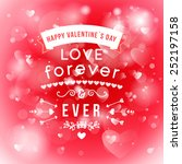 happy valentines day card... | Shutterstock .eps vector #252197158