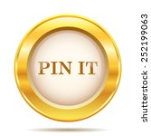 pin it icon. internet button on ... | Shutterstock .eps vector #252199063