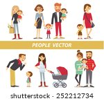 parents with kids | Shutterstock .eps vector #252212734