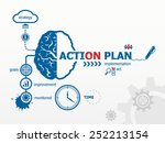 action plan concept. hand... | Shutterstock .eps vector #252213154