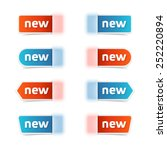 vector set of new label tags. | Shutterstock .eps vector #252220894
