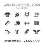 american football icons. | Shutterstock .eps vector #252227770