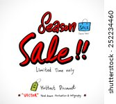 hand drawn sale poster   ... | Shutterstock .eps vector #252234460
