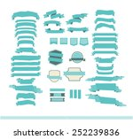 set of retro and modern ribbons ... | Shutterstock .eps vector #252239836