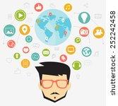 social network concept | Shutterstock .eps vector #252242458