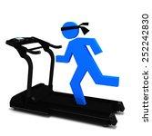 3d person on atreadmill | Shutterstock . vector #252242830