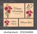 set backgrounds to wedding with ... | Shutterstock .eps vector #252244084