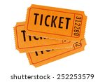 raffle ticket   fan shape stack ... | Shutterstock . vector #252253579