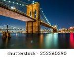 Illuminated Brooklyn Bridge By...