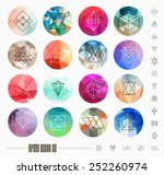 abstract geometric patterns set ... | Shutterstock .eps vector #252260974