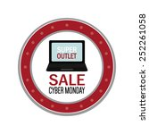 abstract cyber monday object on ... | Shutterstock .eps vector #252261058