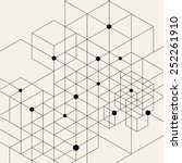vector modern pattern. black... | Shutterstock .eps vector #252261910