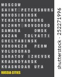 names of russian cities on old... | Shutterstock .eps vector #252271996