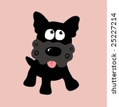 black curly yorkie vector 2 ... | Shutterstock .eps vector #25227214