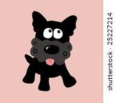 black curly yorkie vector 2 ... | Shutterstock .eps vector #25227214
