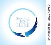 graceful soaring eagle logo... | Shutterstock .eps vector #252272950