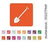 the shovel icon. spade symbol....   Shutterstock .eps vector #252277969