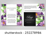 set of invitations with floral... | Shutterstock .eps vector #252278986