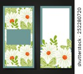 set of invitations with floral... | Shutterstock . vector #252280720