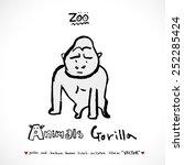 hand drawn zoo illustration  ... | Shutterstock .eps vector #252285424