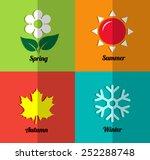 four seasons icon set | Shutterstock .eps vector #252288748